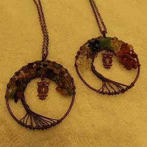 Jewelry - Owl Chakra tree of life
